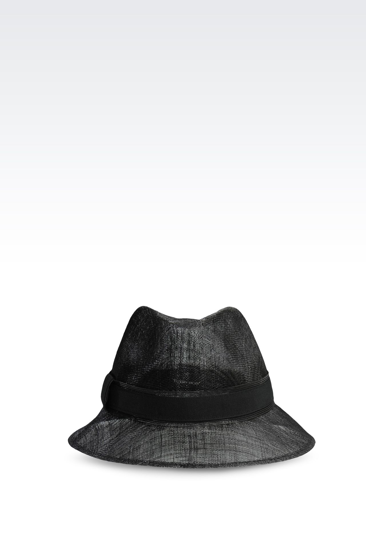 NARROW-BRIMMED STRAW HAT: Hats Women by Armani - 0