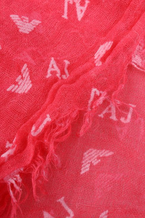 FLOCK PRINT SCARF WITH ALL OVER LOGO: Stoles Women by Armani - 3