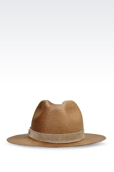 MEDIUM BRIM HAT WITH SUEDE DETAIL: Hats Women by Armani - 1