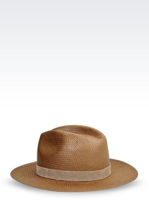 MEDIUM BRIM HAT WITH SUEDE DETAIL: Hats Women by Armani - 2
