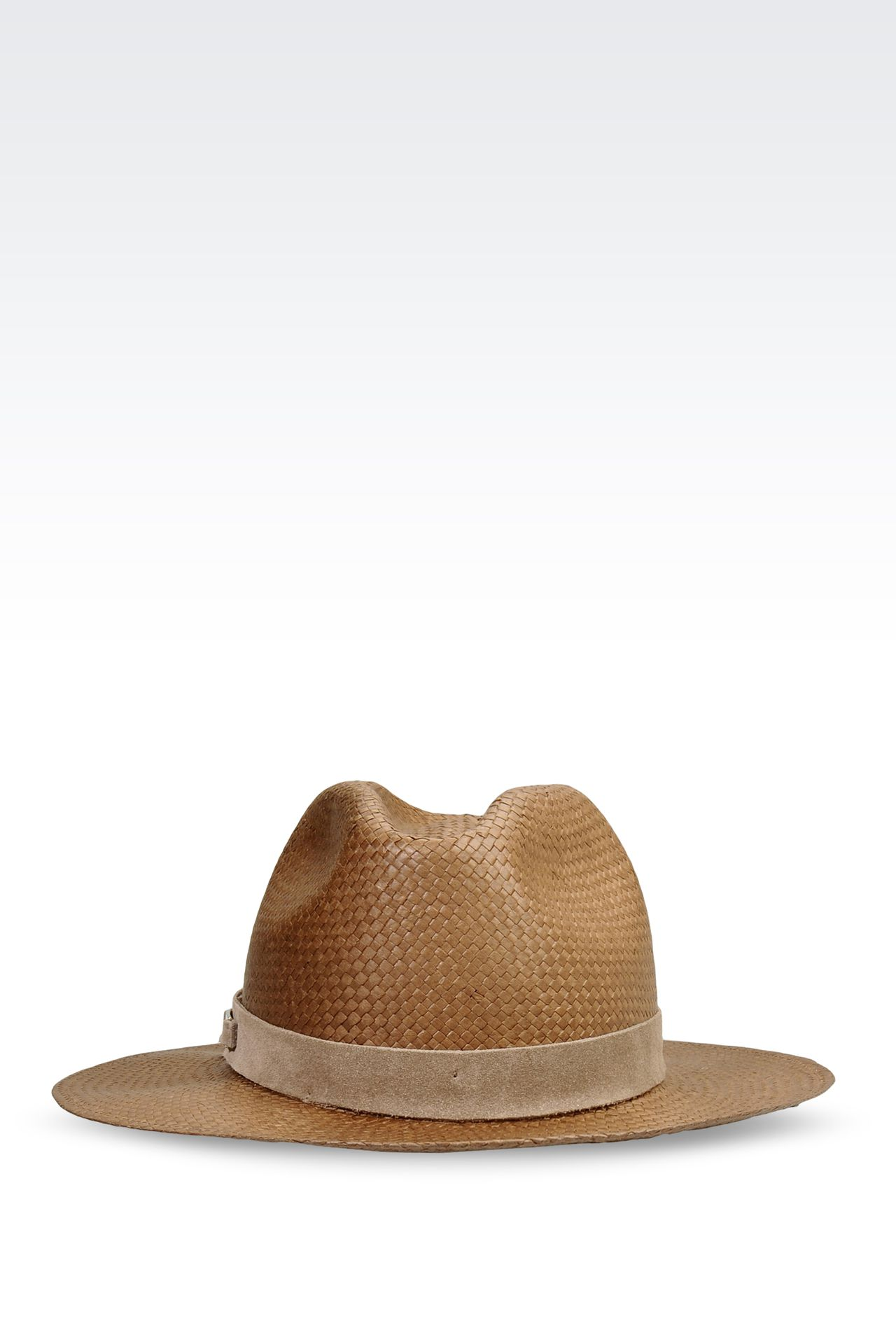 MEDIUM BRIM HAT WITH SUEDE DETAIL: Hats Women by Armani - 0