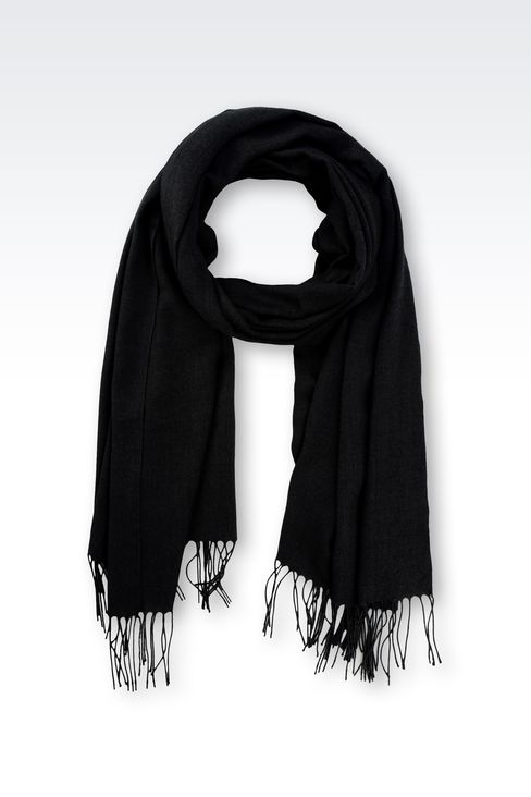 STOLE IN TECHNICAL VISCOSE: Scarves Men by Armani - 1