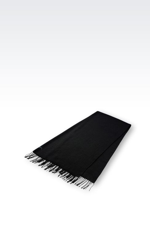 STOLE IN TECHNICAL VISCOSE: Scarves Men by Armani - 2