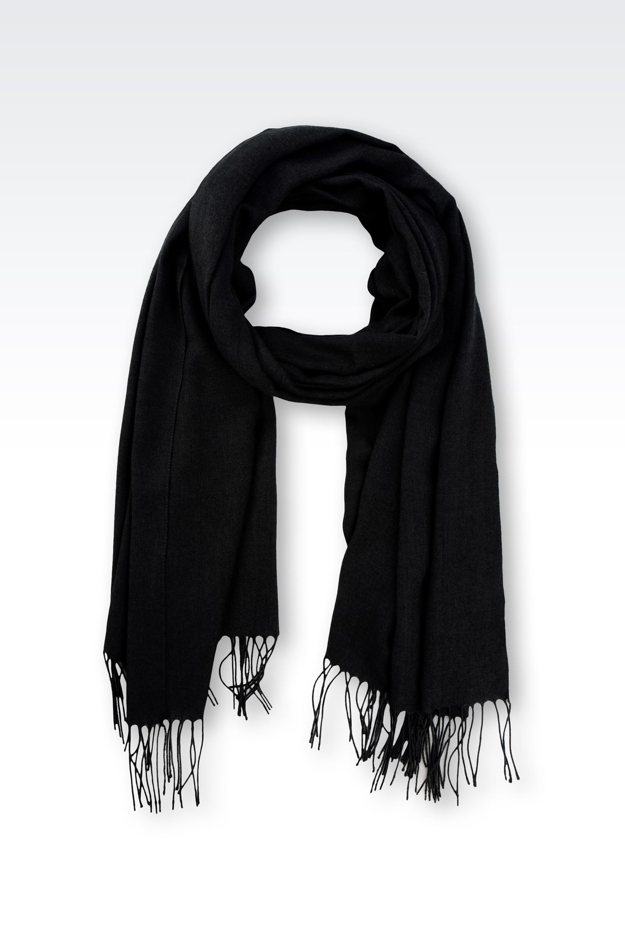 STOLE IN TECHNICAL VISCOSE: Scarves Men by Armani - 0