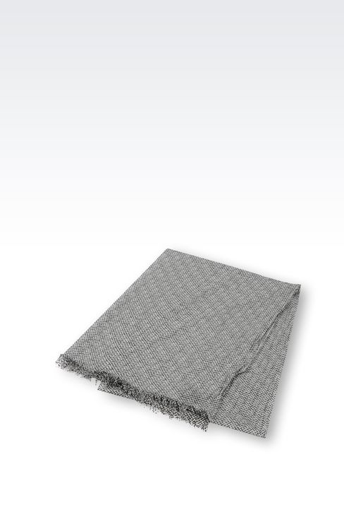 MODAL STOLE WITH JACQUARD MOTIF: Scarves Men by Armani - 2