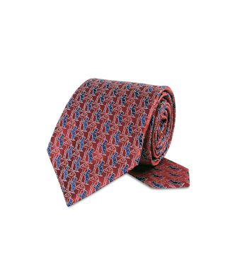 ERMENEGILDO ZEGNA: Cravate Bordeaux - 46328923OK