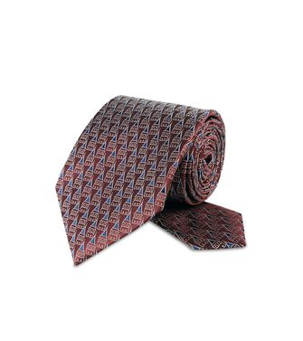 ERMENEGILDO ZEGNA: Cravate Bordeaux - 46328924CD