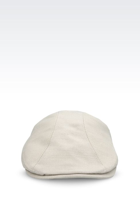 COPPOLA CAP IN JUTE AND VISCOSE: Hats Men by Armani - 1