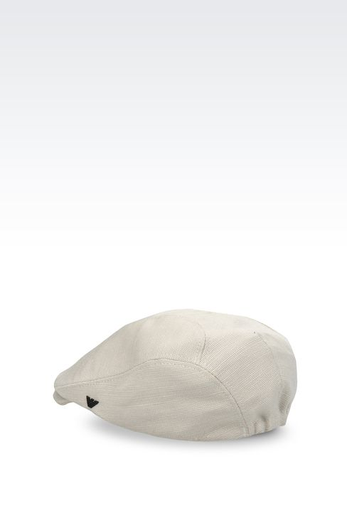 COPPOLA CAP IN JUTE AND VISCOSE: Hats Men by Armani - 2