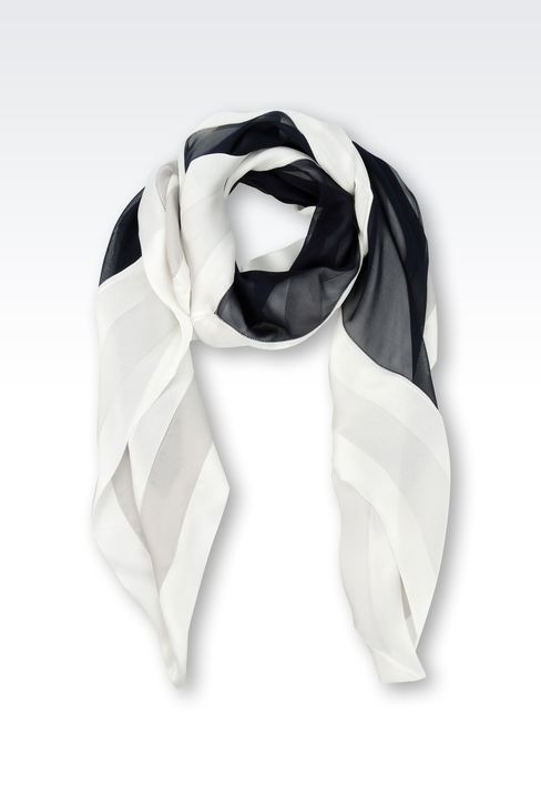 SILK SCARF WITH MULTICOLOUR PATTERN: Foulards Women by Armani - 1