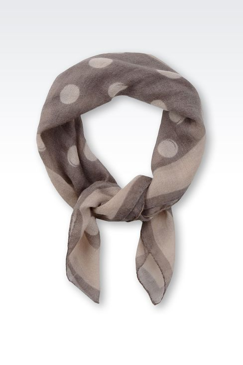 PATTERNED CASHMERE SCARF: Foulards Women by Armani - 1
