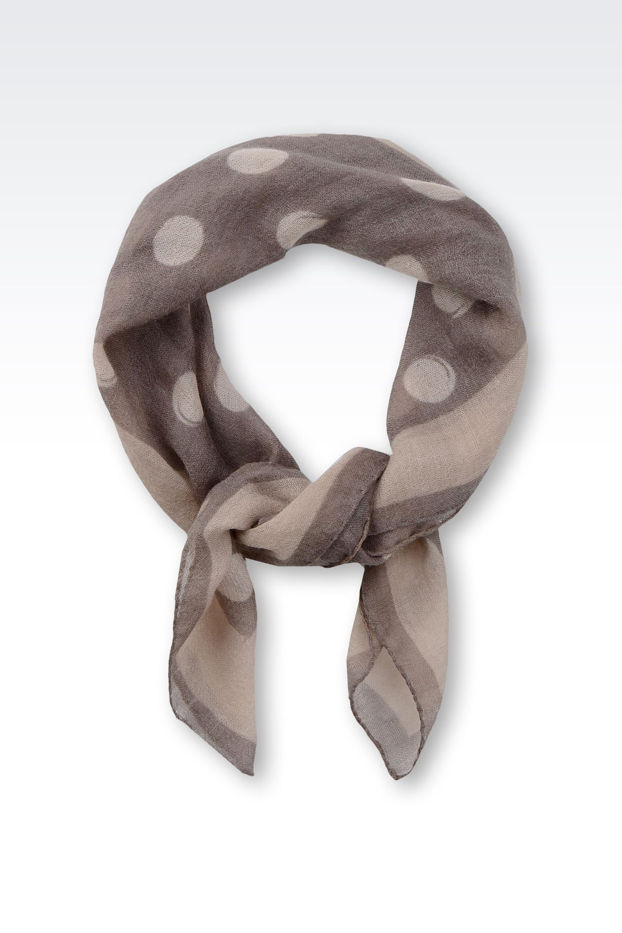 PATTERNED CASHMERE SCARF: Foulards Women by Armani - 0