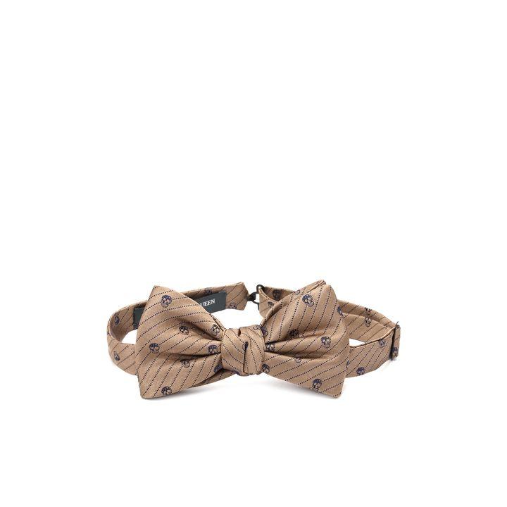 Alexander McQueen, Nœud papillon à rayures et motifs Skull en diagonale