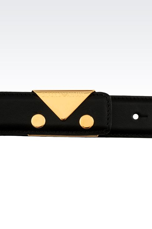 BELT IN SMOOTH CALFSKIN: Leather belts Women by Armani - 3