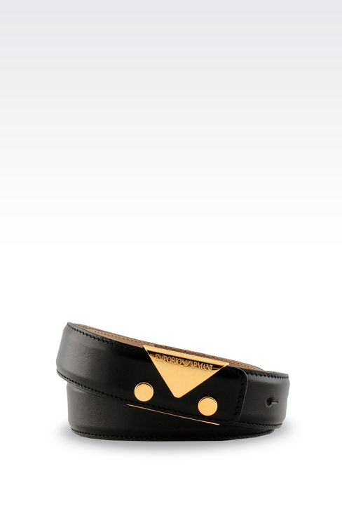 BELT IN SMOOTH CALFSKIN: Leather belts Women by Armani - 1