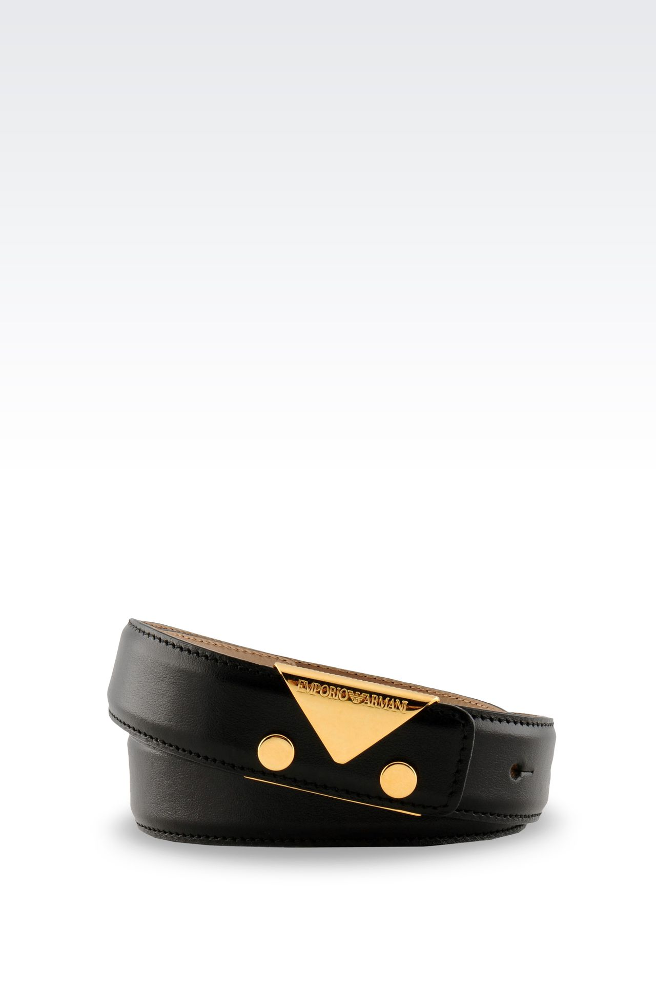 BELT IN SMOOTH CALFSKIN: Leather belts Women by Armani - 0