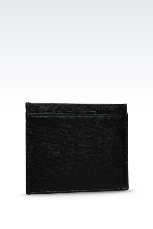 CREDIT CARD HOLDER IN SAFFIANO CALFSKIN: Card holders Men by Armani - 2