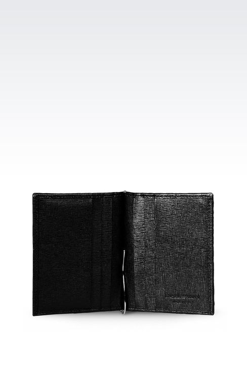 BI-FOLD WALLET IN SAFFIANO CALFSKIN WITH MONEY CLIP: Wallets Men by Armani - 3