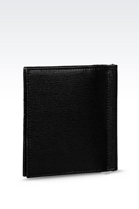 BI-FOLD WALLET IN SAFFIANO CALFSKIN WITH MONEY CLIP: Wallets Men by Armani - 2