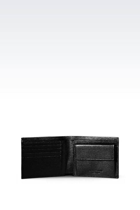 BI-FOLD WALLET IN SAFFIANO CALFSKIN: Wallets Men by Armani - 3