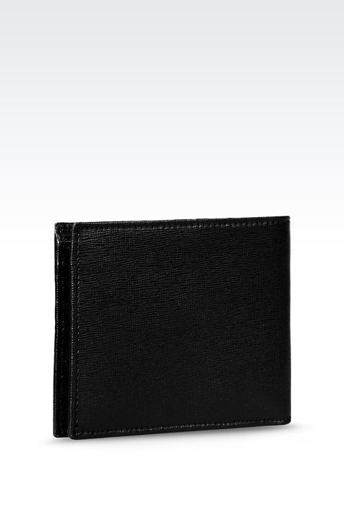 BI-FOLD WALLET IN SAFFIANO CALFSKIN: Wallets Men by Armani - 2