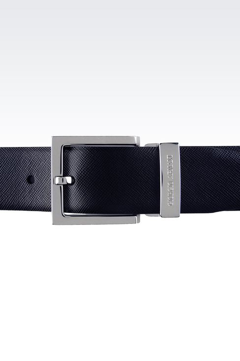 REVERSIBLE CALFSKIN BELT: Leather belts Men by Armani - 3