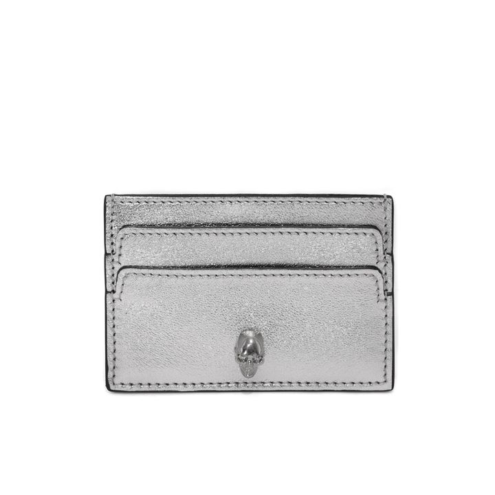 Alexander McQueen, Metallic Skull Leather Card Holder