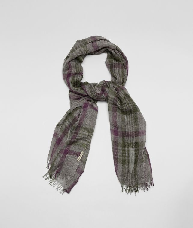 GREY GREEN CASHEMERE SILK SCARF