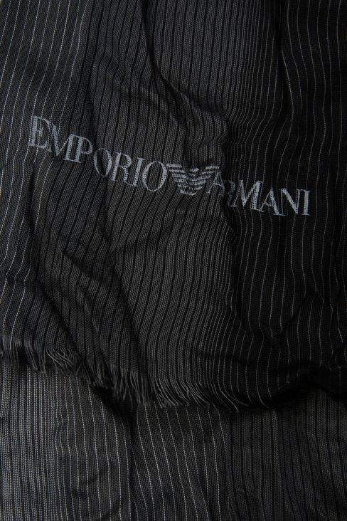 STRIPED VISCOSE STOLE: Scarves Men by Armani - 3
