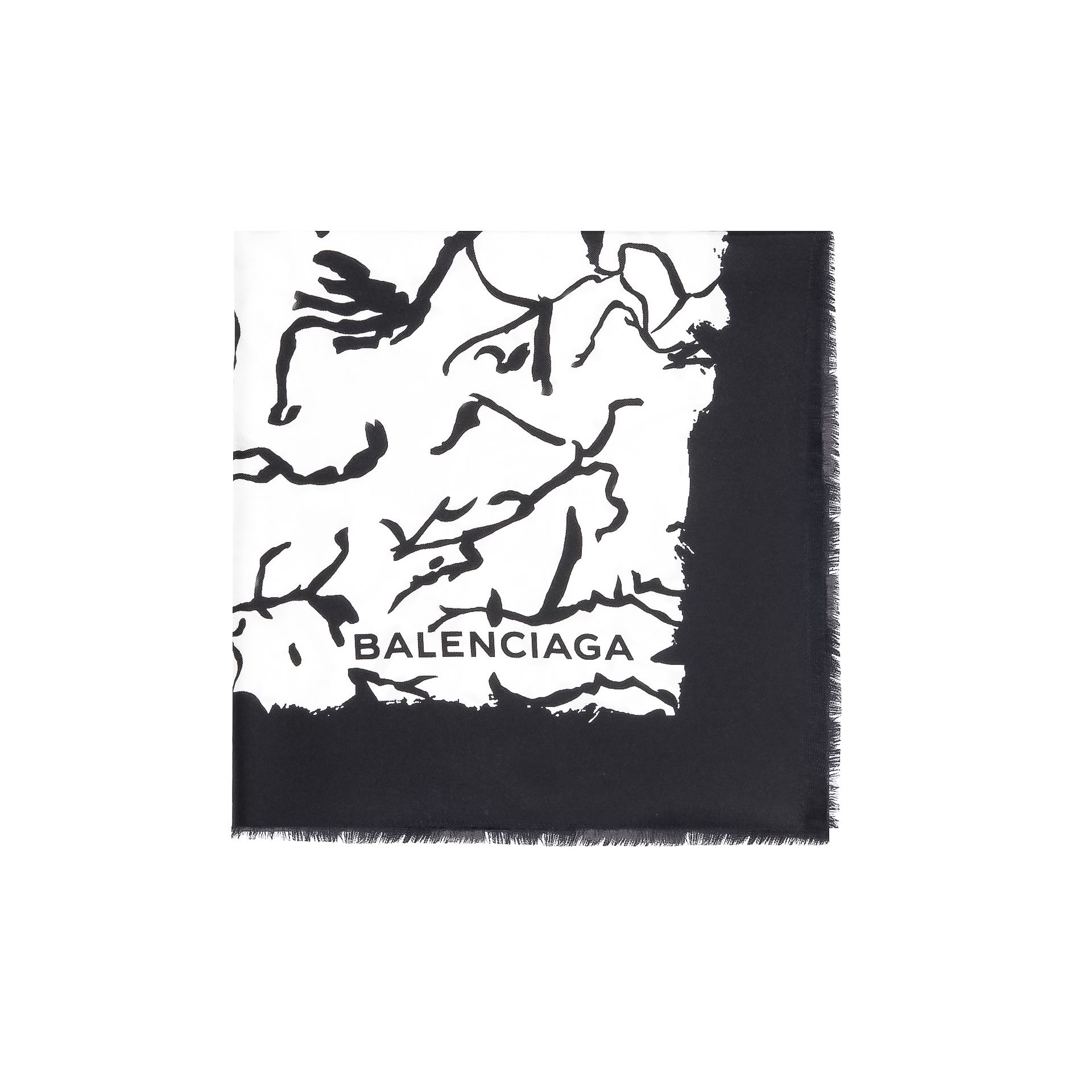 "Balenciaga Foulard Twill ""Ink Drawing"""