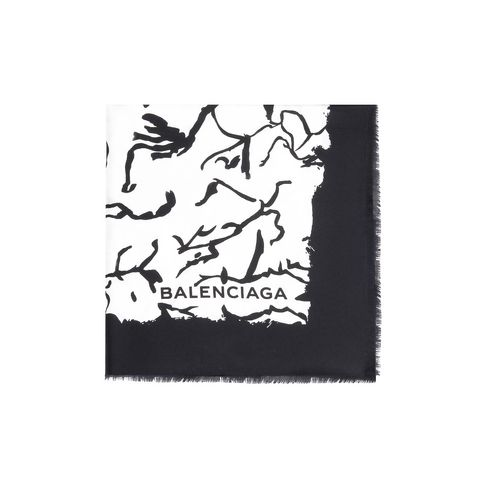 "Balenciaga Bufanda de sarga ""Ink Drawing"""