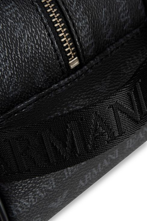 BEAUTY CASE IN FAUX LEATHER WITH ALL-OVER LOGO: Beauty cases Men by Armani - 4
