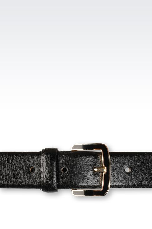 BELT IN PRINTED CALFSKIN: Leather belts Women by Armani - 3