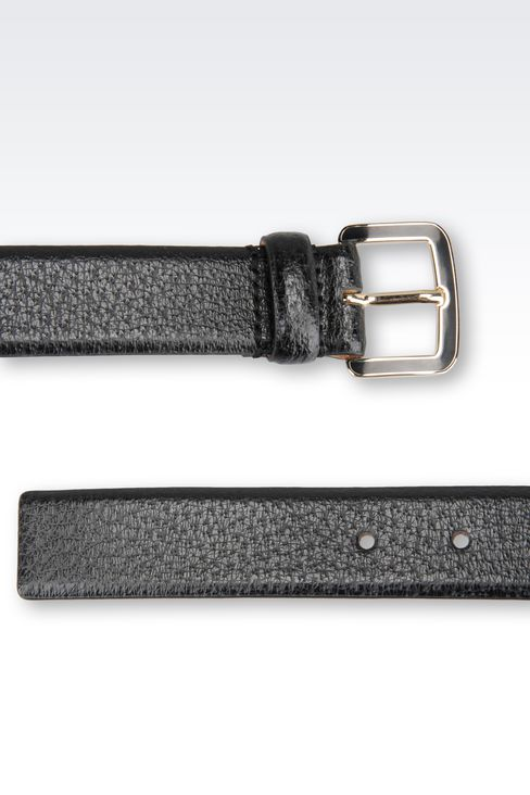 BELT IN PRINTED CALFSKIN: Leather belts Women by Armani - 2