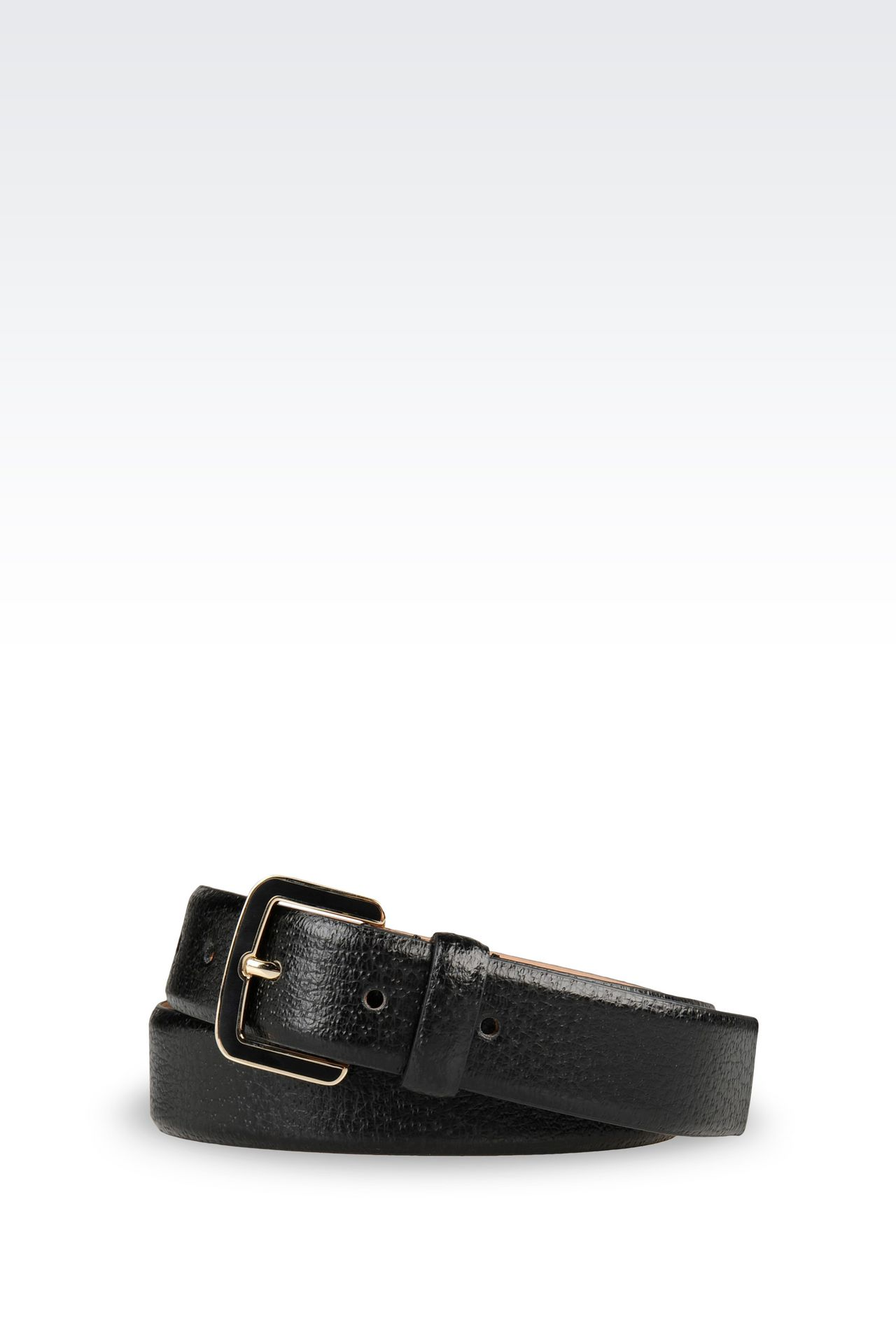 BELT IN PRINTED CALFSKIN: Leather belts Women by Armani - 0