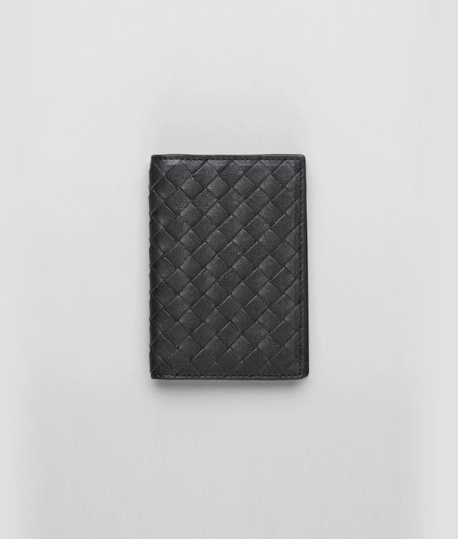 BOTTEGA VENETA Nero Intrecciato Washed Lambskin Card Case Other Leather Accessory D fp