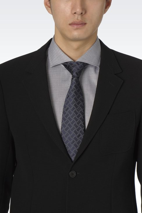 SILK TIE WITH GEOMETRIC PATTERN: Ties Men by Armani - 3