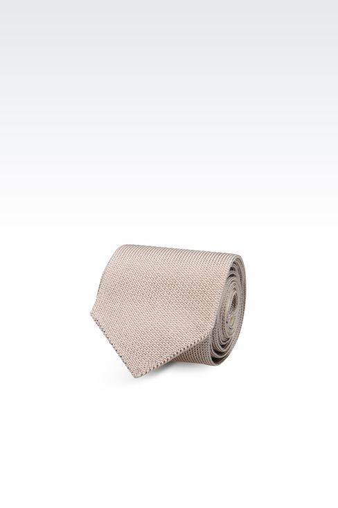 KNITTED SILK TIE: Ties Men by Armani - 1
