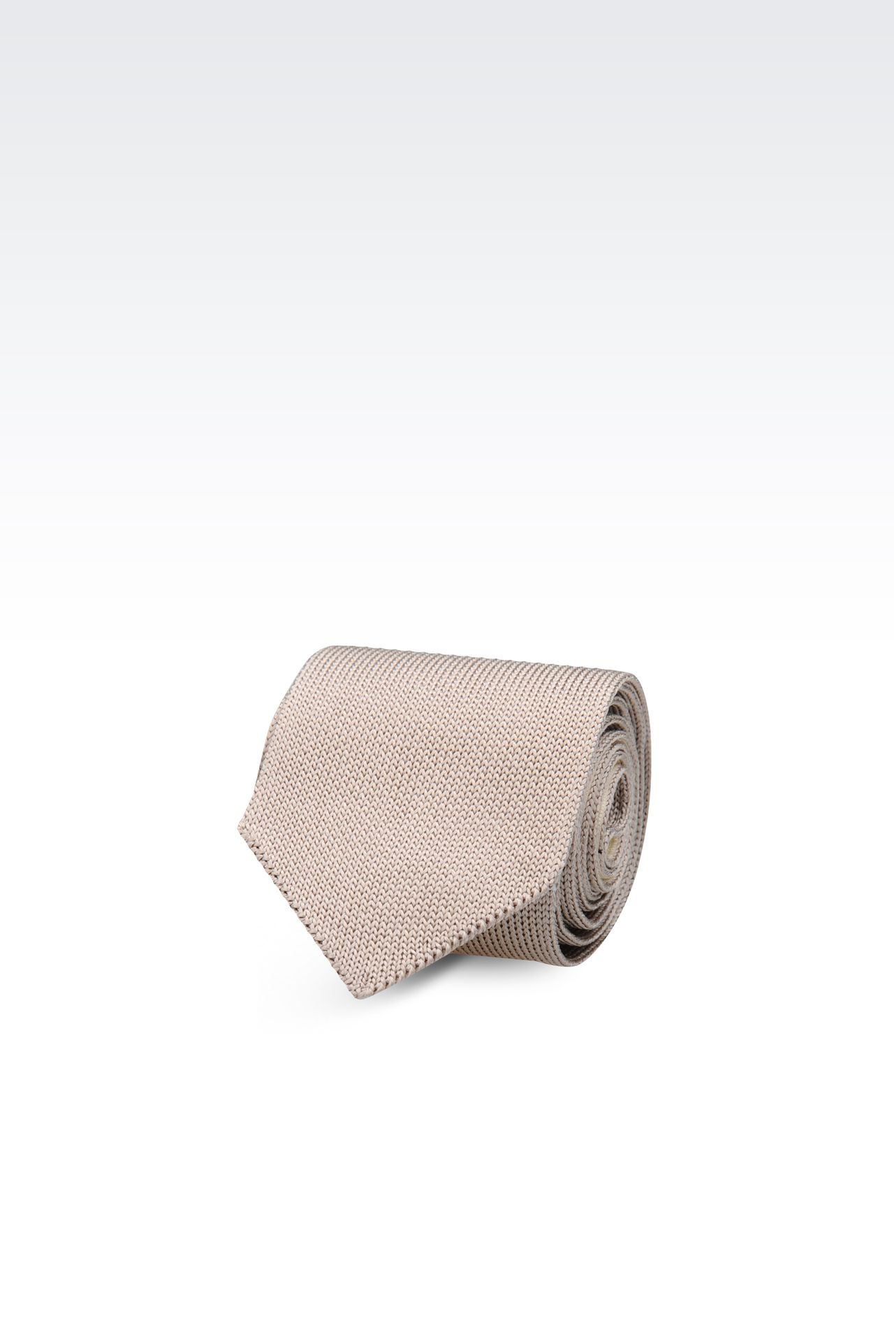 KNITTED SILK TIE: Ties Men by Armani - 0