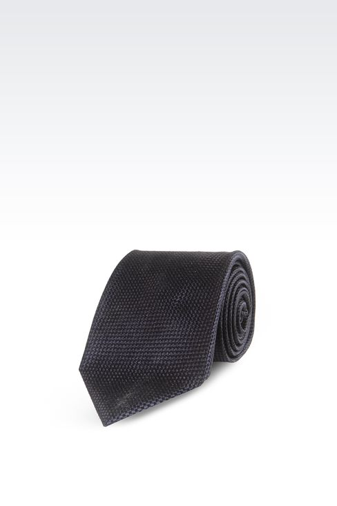 SILK SATIN TIE: Ties Men by Armani - 1