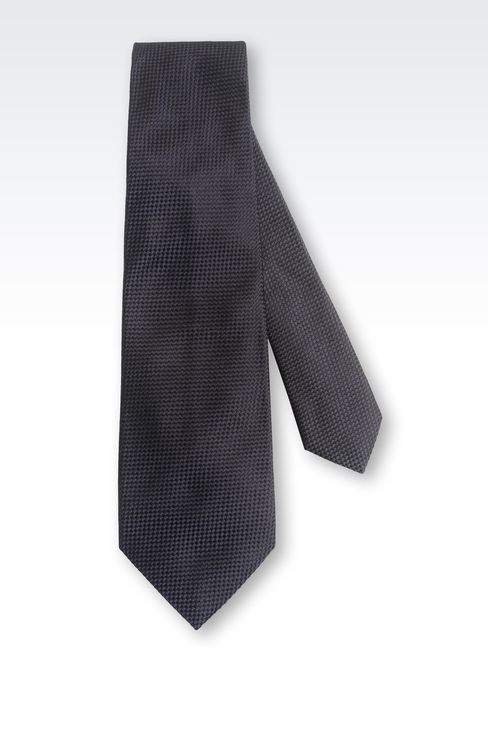 SILK SATIN TIE: Ties Men by Armani - 2
