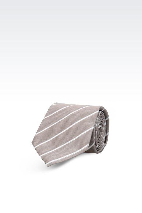 STRIPED SILK TIE: Ties Men by Armani - 1