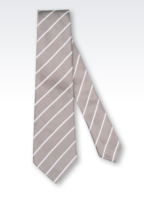 STRIPED SILK TIE: Ties Men by Armani - 2