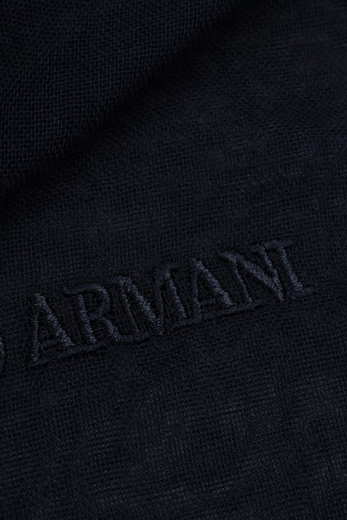 COTTON SCARF WITH LOGO: Foulards Men by Armani - 3