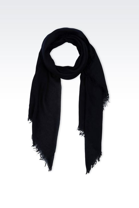 COTTON SCARF WITH LOGO: Foulards Men by Armani - 1