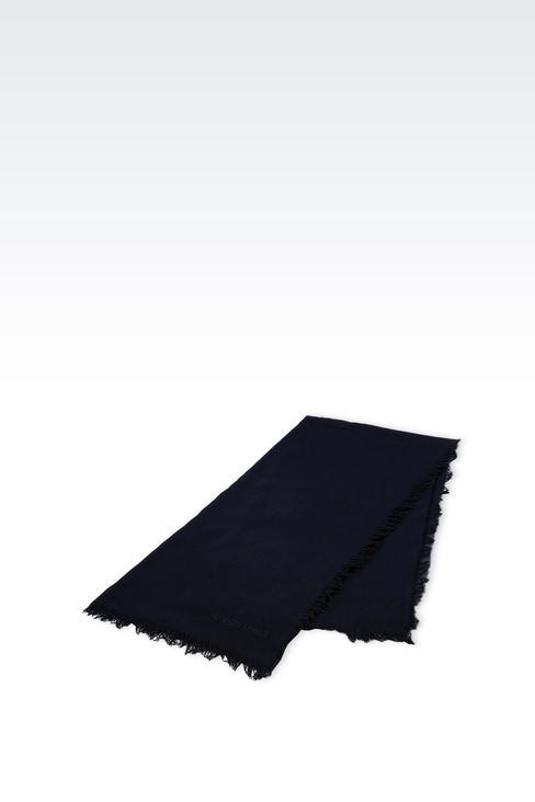 COTTON SCARF WITH LOGO: Foulards Men by Armani - 2