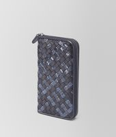 ZIP AROUND WALLET IN TOURMALINE INTRECCIATO NAPPA AND AYERS
