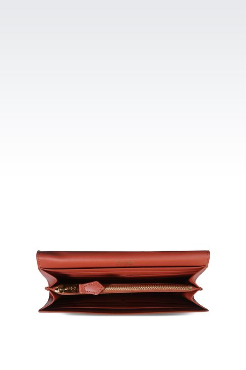 BUTTON WALLET IN CALFSKIN: Wallets Women by Armani - 3