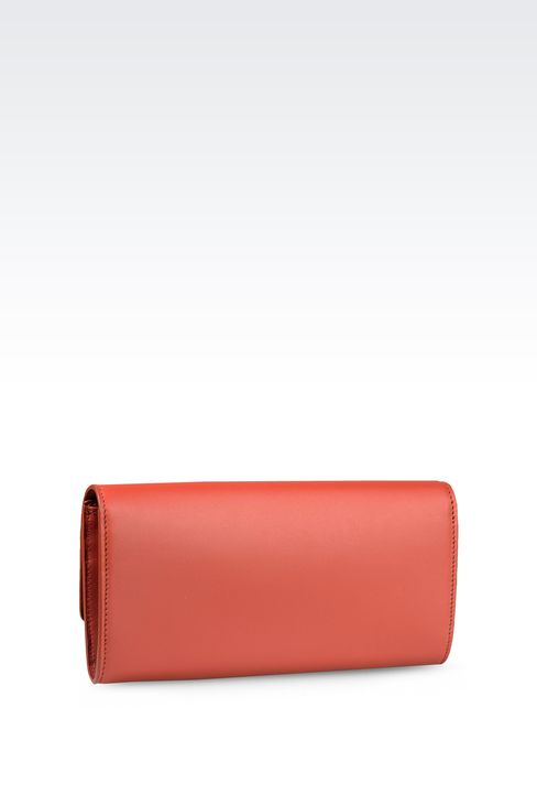 BUTTON WALLET IN CALFSKIN: Wallets Women by Armani - 2