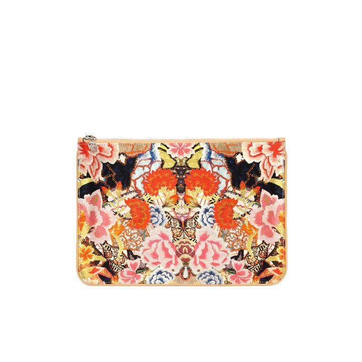 Alexander McQueen, Astuccio Stampa Patchwork Floral con Charm Skull